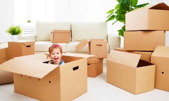 kids helping move