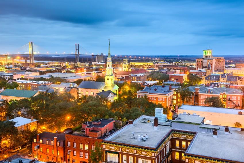 Savannah, GA Skyline