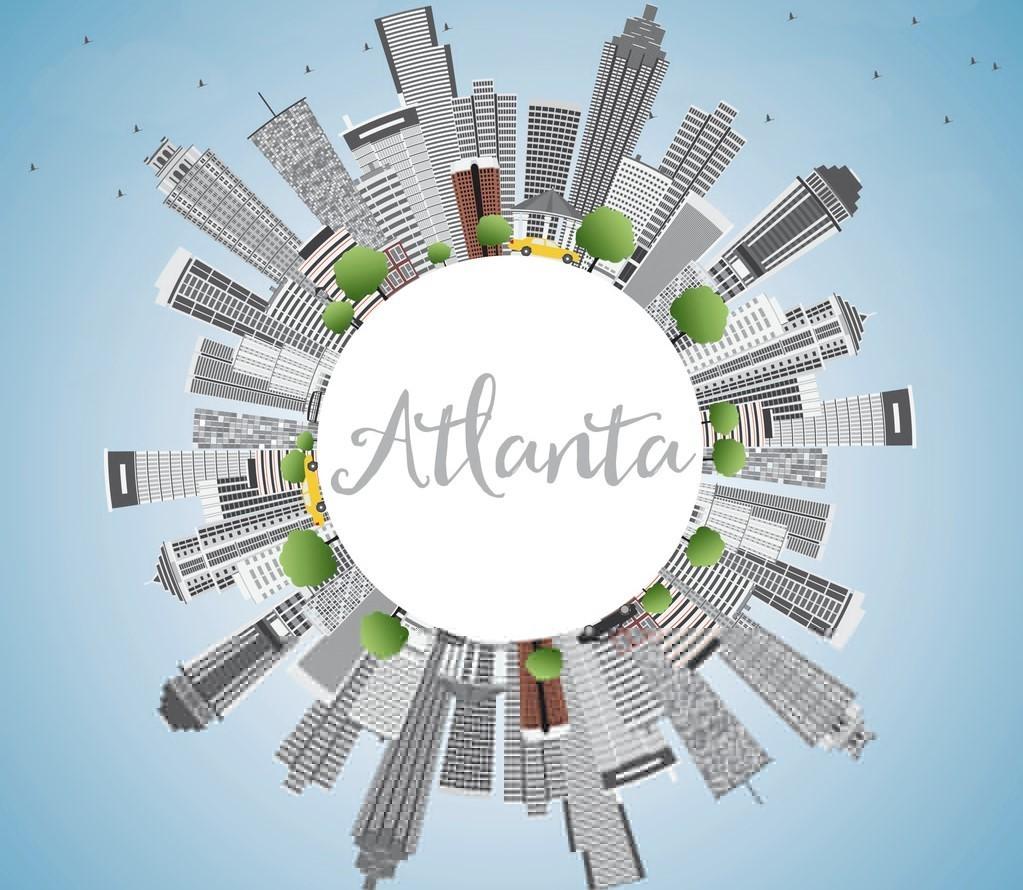 Atlanta Skyline with Gray Buildings